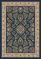 Milliken Pastiche Collection Halkara Round Area Rug 7'7 x 7'7 Candle blue [並行輸入品]
