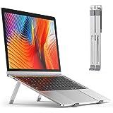 VssoPlor ノートパソコンスタンド PCスタンド 折り畳み式 パソコンスタンド PCホルダー アルミ合金製 軽量 放熱対策 角度調整可能 姿勢改善 PC/MacBook Air/MacBook Pro/ラップトップ/iPad/kindle/タブレットに対応