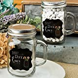 "Fashioncraft "" Best Day Ever "" 12 ozガラスMason Jar with Handle"