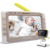 """MoonyBaby Wide Angle, 5"""" Large LCD Screen Video Baby Monitor with Clear Night Vision, Digital Camera, Temperature Monitoring,"""