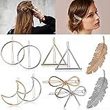 Hair Clip Fashion Various Shape Hair Barrettes Creative Geometric Shape Hollow Barrettes for Women Styling Accessories Hair P