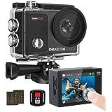 タッチスクリーン式 Dragon Touch アクションカメラ 4K/30fps 高画質ビデオ録画 Wi-Fi搭載 30M防水 170°広角レンズ ダイビングモードあり 長時間撮影 映像撮影 1050mAhバッテリー2個 ウェアラブルカメラ 小型 リ