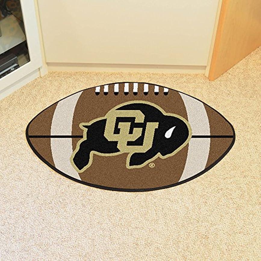 空虚闇ソフィーFanmats Colorado Buffaloes football-shapedマット