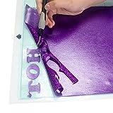TECKWRAP 熱転写シート アイロンプリントシート ラバーシート Tシャツなどの衣類や織物、切れ地に使う 多色 グリッター ラメあり 30cm×25cm×7枚 画像