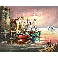 海の景色 DIY数字油絵 手をお楽しみください 絶妙な装飾的な絵画のホーム 友人への贈り物の意向 40x50cm (4)