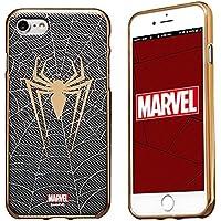 MARVEL Design スマートフォン・ケース アベンジャーズ キャラクターの スマホケース ソフトTPUにメタリック塗装を施した重厚感あふれるデザイン iPhone 8 対応 スパイダーマン