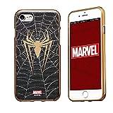 MARVEL Design スマートフォン・ケース アベンジャーズ キャラクターの スマホケース ソフトTPUにメタリック塗装を施した重厚感あふれるデザイン iPhone 7Plus対応 スパイダーマン