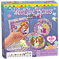 Sticky Mosaics by Numbers Toy - Keepsake Box - 450 Pieces - Child Arts and Crafts by The Orb Factory