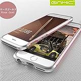 第3世代ストラップホール付き iPhone6/6s/6plus/6splus ツートンアルミバンパー (iphone6 plus/6s plus, ローズゴールド)