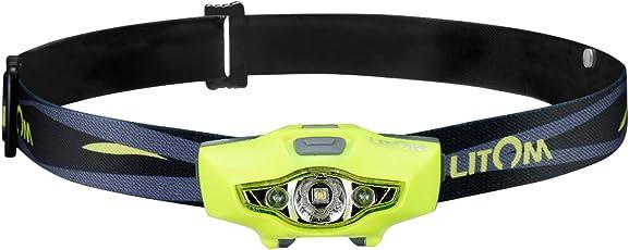 Litom LEDヘッドライト 乾電池ヘッドランプ 単三1本 実用点灯8時間 100ルーメン 照射距離95メートル IPX6防水 6つ点灯モード キャンプ 登山 夜釣り 防災に適用