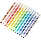 Needle Gel 0.35mm Pens, Doraking 0.35mm Colored Refillable Crystal Needle Type Pen, Colored Sketch Drawing Pen for Bullet Jou