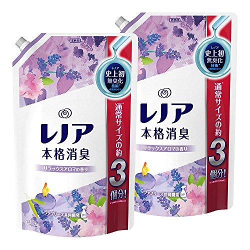 【まとめ買い】 レノア 本格消臭 柔軟剤 リラックスアロマ 詰め替え 超特大 1400ml×2個