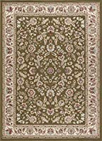 Lizbeth Traditional Oriental Green Rectangle Area Rug 5' x 7' [並行輸入品]