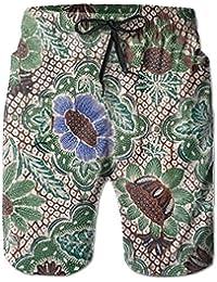 レトロな花柄 メンズ サーフパンツ 水陸両用 水着 海パン ビーチパンツ 短パン ショーツ ショートパンツ 大きいサイズ ハワイ風 アロハ 大人気 おしゃれ 通気 速乾