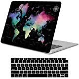 Lapac MacBook Air 13 Inch Case 2020 2019 2018 Release A2179 A1932, World Maps Soft Touch Hard Shell Case & Retina Display Fit