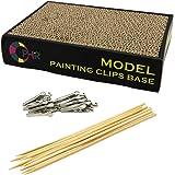 BENECOM(ベネカン) プラモデル塗装セット パーツスタンド1点 クリップ式 塗装棒50本 ペイント エアブラシ
