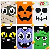 Pack of 72 Halloween Goodie Bags for Trick-or-Treating, Halloween Party Favors, Halloween Snacks, Event Party Favor Supplies,