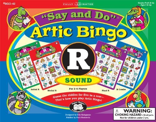 """Say and Do Artic Bingoサウンドゲーム文字"""" R """"–Super Duper Educational Learningおもちゃfor Kids"""