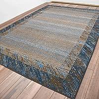 ラグ 絨毯 カーペット 240x340 おしゃれ ウィルトン 西海岸 北欧 青系 約6畳 HORUS COLOR カーメス240×340cm/5502DW6-Hブルー