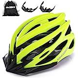 KINGBIKE自転車ヘルメット大人のロードバイク/サイクリングヘルメットシンプルなヘルメットのバックパックメンズ女性との超軽量高剛性LEDライトヘルメット56-63 CM M/L/XL(二つのバイザー,CPSC認証済み)