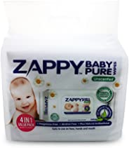 Zappy Baby Pure 80s Wipes Value Pack, 80 ct (Pack of 4)
