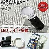 STARDUST LEDライト搭載 コンパクト ルーペ 電池式 拡大 新聞 小説 本 文章 ポケット SD-LEDRUPE