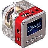 NiZHi TT-028 LCD Display Multimedia Speakers Support Micro SD/TF Card/USB Disk mp3 Player Portable FM Radio Mini Speakers (Re
