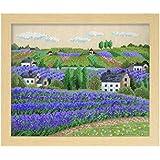 オリムパス製絲 クロスステッチ 刺しゅうキット フラワーガーデン 花の咲く風景 ラベンダー畑 ベージュ 7311