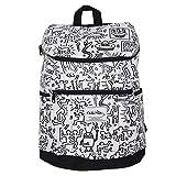 キースへリング (Keith Haring) リュック サック 黒 ブラック ホワイト メンズ レディース おしゃれ アウトドア 大容量 (KH1601 ホワイト)