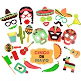 DIYや結婚式、写真撮影にMexican写真ブース小道具キット&特別なイベントパーティーFavors Decorations 29pcs