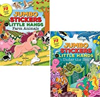 Preschool Stickers and Books - Jumbo Stickers for Little Hands 2 Books (FARM AND SEA) 【You&Me】 [並行輸入品]