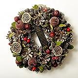 クリスマスリース 選べる12種類 ナチュラルテイストのアートリース (H,クラシックビター)