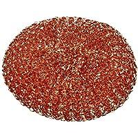 富士商 雑菌 の繁殖を防ぐ 純銅製 キッチン たわし 6個セット F4389 ブラウン 直径9×2cm