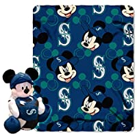 MLB Seattle MarinersピッチCrazy共同ブランドDisney 's Mickey Hugger and Fleece Throwセット