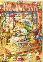 ねこの引出し リシ マーチンのクリスマスポストカード★窓の外にはサンタさん