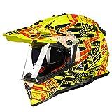 オフロード バイクヘルメット ヘルメット バイク用 バージョン ダブルシールド PSC付き  YHZ-98[商品08/L]