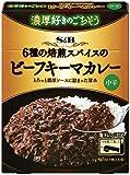 S&B 濃厚好きのごちそう 6種の焙煎スパイスのビーフキーマカレー 中辛 130g×6個