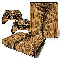 XBOX ONE X Skin Design Foils Faceplate Set - Old Wood Design