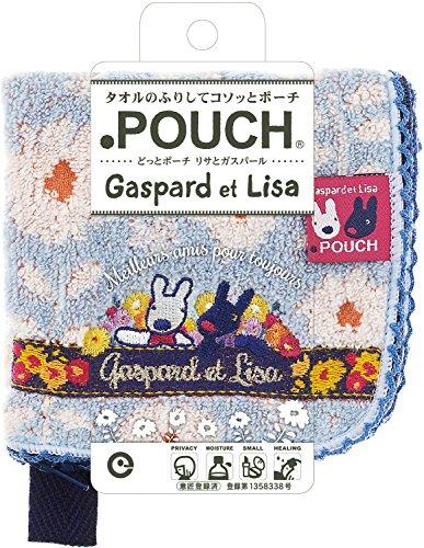 アイアップ どっとポーチ リサとガスパール ブルーAG 11.5×13.2cm