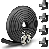 Edge Guard & Corner Protector - Extra Long 19.0ft [16.5ft Edge + 8 Pretaped Corners] with Baby Proofing, Home Safety Furnitur