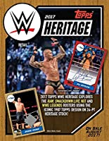"""Topps 2017 WWE Heritage Wrestling Retail Box (24 Count), Black, 5"""" x 5"""""""