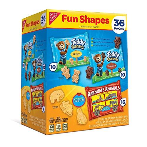 Nabisco Fun Shapes Variety Pack (1 oz, 36 ct.) ナビスコ ファンシェイプス バラエティパック 28g 36個入り [並行輸入品]