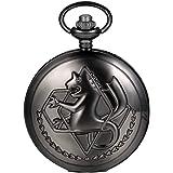 JewelryWe 懐中時計 アンティーク風 ネックレス 時計,ペンダント ウォッチ ポケットウォッチ,海馬,合金,バレンタイン プレゼント