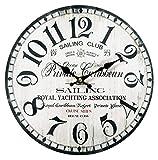 ケーアイ エポカ ウォールクロック 掛け時計 セーリング 直径30cm ホワイト