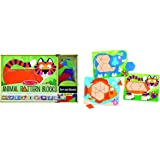 Melissa & Doug 4382 Animal Pattern Blocks Set With 5 Double-Sided Wooden Boards and 47 Multi-Shaped Blocks