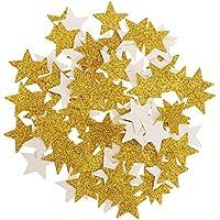 Baosity 100枚 /セット キラキラ ゴールド スター カップケーキトッパー スプリンクル 結婚式 装飾
