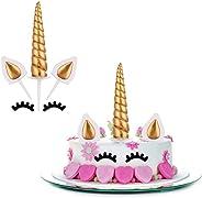 Kingsie ケーキトッパー デコレーション ユニコーン 可愛い 誕生日/パーティー/結婚式/ウェディング