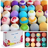 Kay's Bath Bombs Gift Set Fizzies - 12 Pack - Individually Wrapped Assorted Scents - Made in USA - Shea & Mango Butter, Essential and Fragrance Oils for Moisturizing Dry Skin - Lush Bath Salts