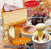Bon'n'Bon(ボナボン) お試しセット 新食感あったか チーズココ(100g)x5個・チーズケーキ 5号(ギフトボックス入り)