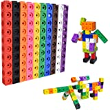 Learning Resources Early Math Link Cube Activity Set Educational Number Blocks of 100 Connecting Blocks 10 Colors for Prescho